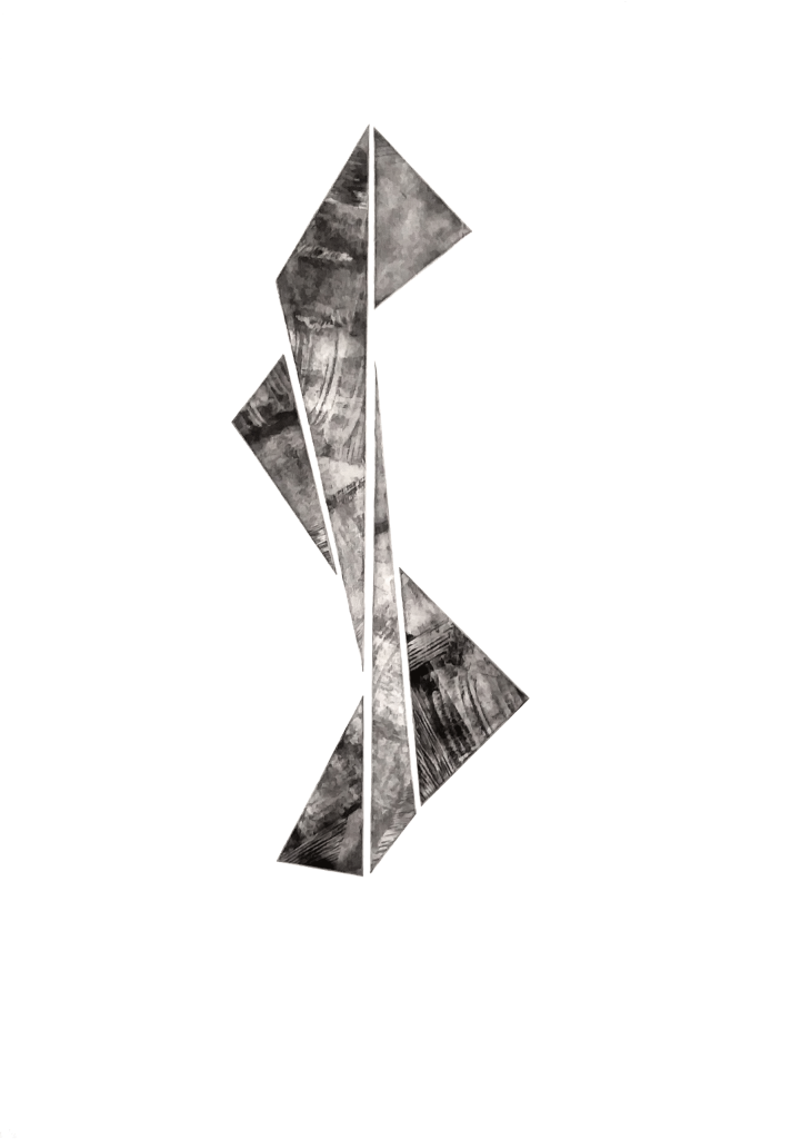 Intaglio print using multiple plates in varied arrangements